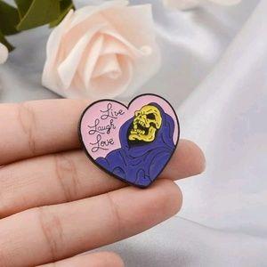 Jewelry - {5/$25} Live laugh love skeletor pin